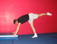 Improper shoulder angle for a handstand